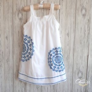 Gymboree Greek Isle Style Embroidered Dress Size 6